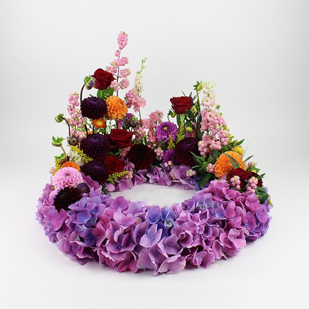 blomster til begravelse - skråsnit