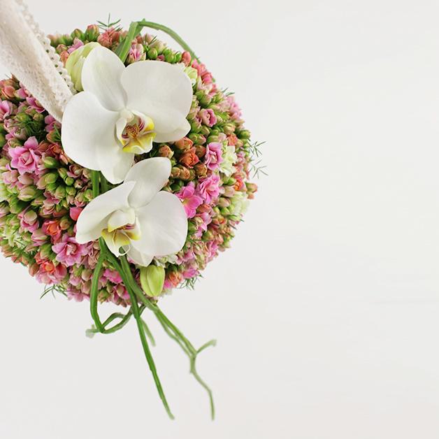 Blomster til bryllup, brudebuket - Skråsnit